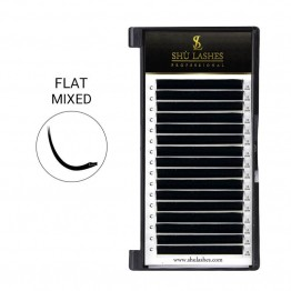 Ellipse Flat Lashes Mixed Length 8~15mm (.10/.15/.20, 16 Lines)