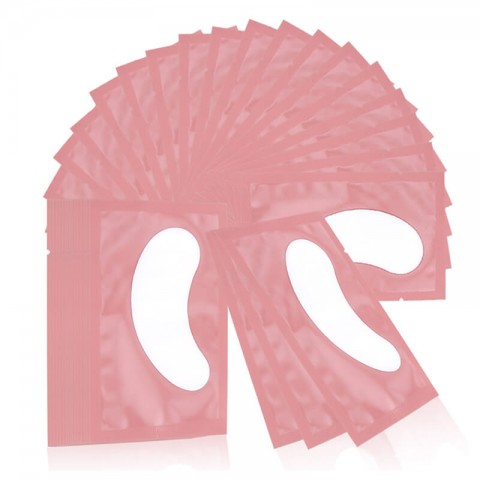 Pink Lint-Free Eye Gel Pads 50 Pairs