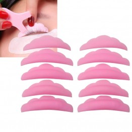 Pink Silicone Eyelash Lifting Perm Pads 10 PCS