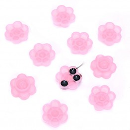 Flower Shape Gule Cap With Removable Bonding Glue Dot Tape 100 PCS