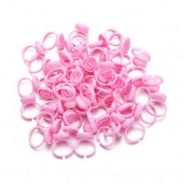 Pink Blooming Glue Ring Holder 100 PCS